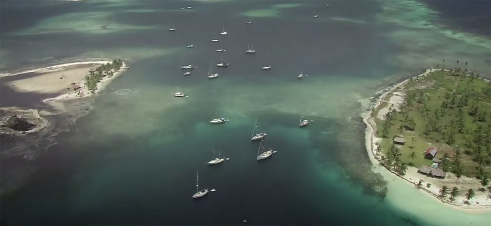 Aerial picture of San Blas Islands