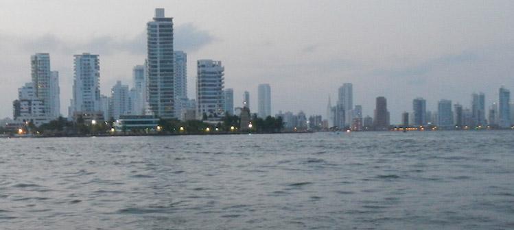 Cartagena Colombia skyline