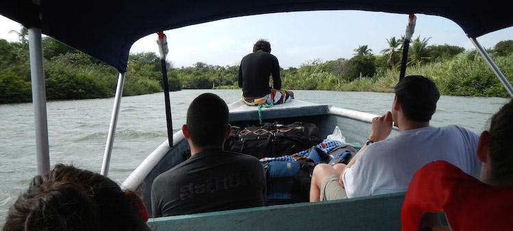 water taxi San Blas Islands